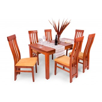 Lara 6 személyes étkező, Leila 160-as asztallal  6 személyes étkező garnitúrák Hétvégi akció