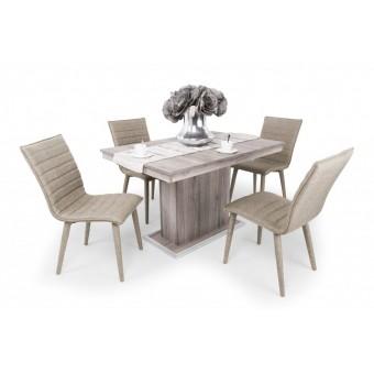 Anton 4 személyes étkező, Flóra asztallal  4 személyes étkező garnitúrák