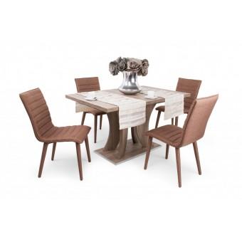 Anton 4 személyes étkező, Bella 130-as asztallal  4 személyes étkező garnitúrák
