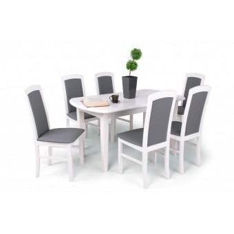 Barbi 6 személyes étkező, Dante 160-as asztallal  6 személyes étkező garnitúrák