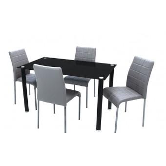 Kris 4 személyes étkező, Geri asztallal  4 személyes étkező garnitúrák Fém vázas étkezők