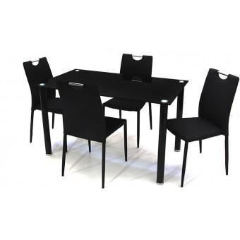 Szofi 4 személyes étkező, Geri asztallal  Fém vázas étkezők 4 személyes étkező garnitúrák