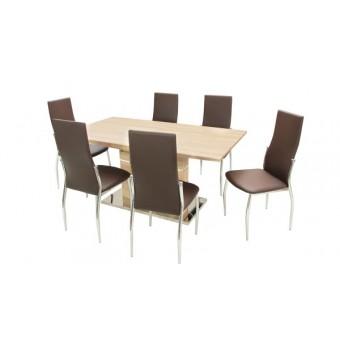 Toni 6 személyes étkező, Claudia 160-as asztallal  6 személyes étkező garnitúrák