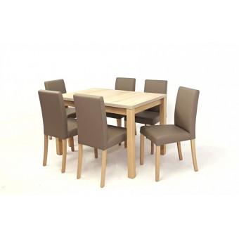 Kanzo 6 személyes étkező, Mokka asztallal  6 személyes étkező garnitúrák