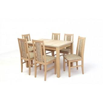 Félix 6 személyes étkező, Mokka asztallal  6 személyes étkező garnitúrák