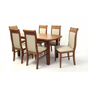 Raffaello 6 személyes étkező, Piano 160-as asztallal  6 személyes étkező garnitúrák