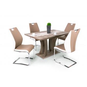 Adél 4 személyes étkező, Bella 130-as asztallal  4 személyes étkező garnitúrák