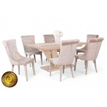 Cleopatra étkező, Dorka 170-es asztallal  6 személyes étkező garnitúrák