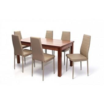 Geri 6 személyes étkező, Berta 160-as asztallal  6 személyes étkező garnitúrák