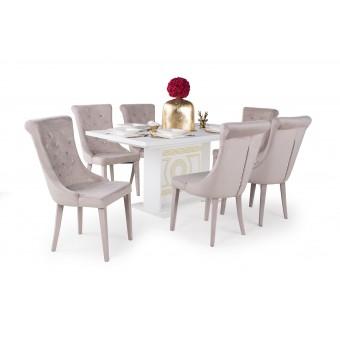 Cleopatra étkező, Versailles asztallal  6 személyes étkező garnitúrák Heti akció