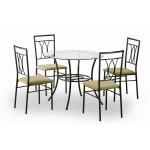 Merton étkezőgarnitúra, 4 személyes  4 személyes étkező garnitúrák Fém vázas étkezők
