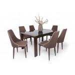 Azúr 6 személyes étkező, Piero asztallal  6 személyes étkező garnitúrák