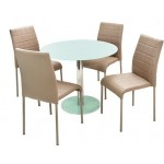 Kris 4 személyes étkező, Nina asztallal  4 személyes étkező garnitúrák Fém vázas étkezők