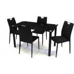 Szofi 4 személyes étkező, Geri asztallal  4 személyes étkező garnitúrák Fém vázas étkezők