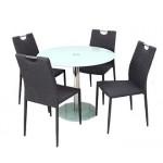 Szofi 4 személyes étkező, Nina asztallal  4 személyes étkező garnitúrák Fém vázas étkezők