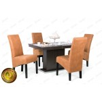 Dalma 4 személyes étkező, Flóra 120-as asztallal  4 személyes étkező garnitúrák