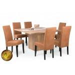 Berta Elegant étkező, Amadeusz asztallal  6 személyes étkező garnitúrák