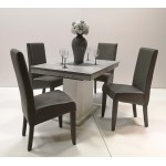 Berta exclusive 4 személyes étkező, Flóra kis asztallal  4 személyes étkező garnitúrák